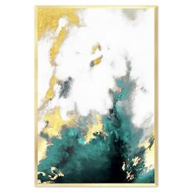 Obrazy abstrakcyjne ze złocieniami