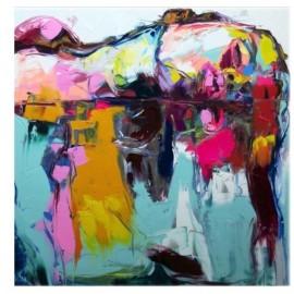 Abstrakcyjne nowoczesne kolorowe portrety